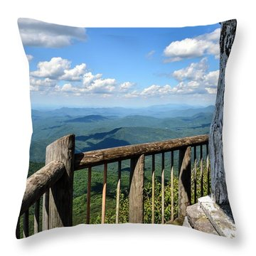 Mt. Cammerer Throw Pillow by Debbie Green