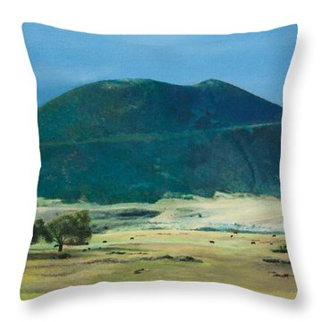 Mt. Capulin In Summer Throw Pillow