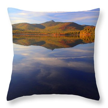 Mt. Chocorua In Blue Throw Pillow