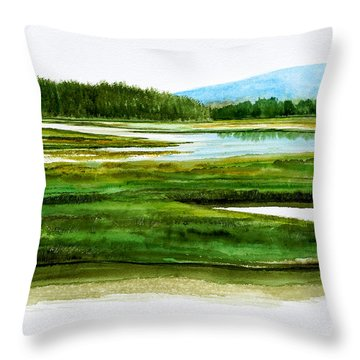 Mt Desert Island Throw Pillow