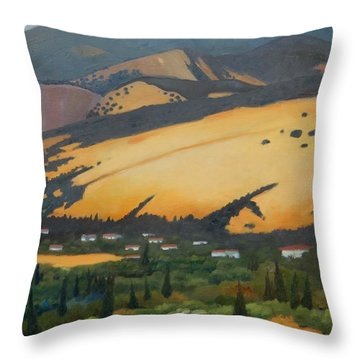 Throw Pillow featuring the painting Mt. Diablo Above by Gary Coleman
