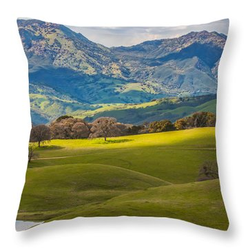 Mt. Diablo On A Spring Afternoon Throw Pillow by Marc Crumpler