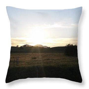Mt. Diablo Sunset Throw Pillow