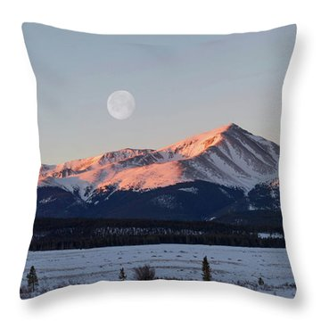 Mt. Elbert Sunrise Throw Pillow