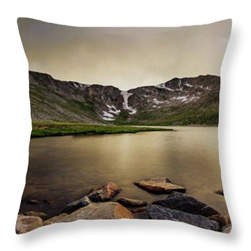 Mt. Evans Summit Lake Throw Pillow