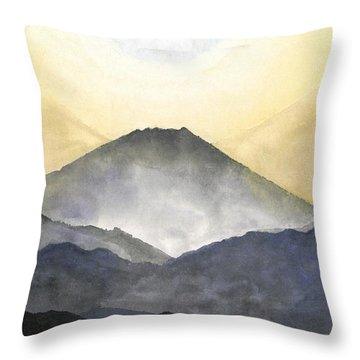 Mt. Fuji At Sunrise Throw Pillow