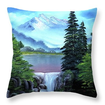 Mt Fuji Throw Pillow by Dee Flouton