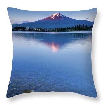 Mt Fuji - First Light Throw Pillow