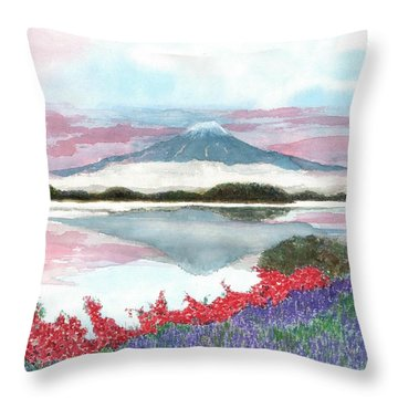 Mt. Fuji Morning Throw Pillow