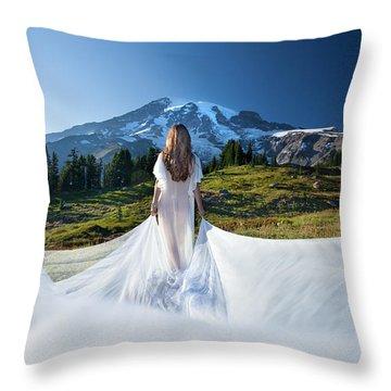 Mt Goddess Throw Pillow