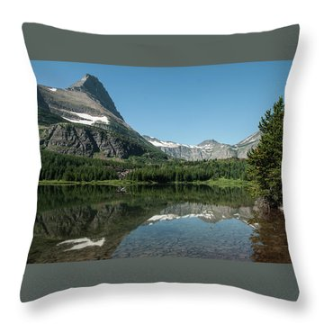 Mt. Grinnell Across Red Rock Lake Glacier National Park Throw Pillow