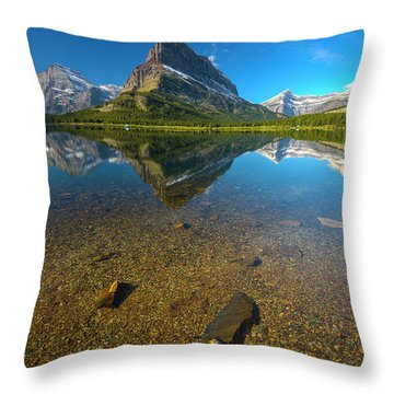 Throw Pillow featuring the photograph Mt. Grinnell by Gary Lengyel
