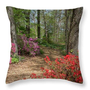 Throw Pillow featuring the photograph Mt Hamilton Azaleas 4 by Chris Scroggins