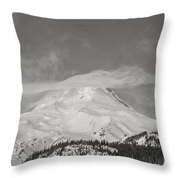 Mt Hood From White River Throw Pillow