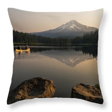 Mt Hood Sunrise  Throw Pillow