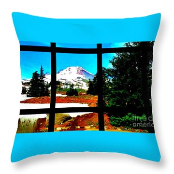 Mt. Hood View Throw Pillow