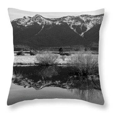 Mt. Hough Reflection Throw Pillow