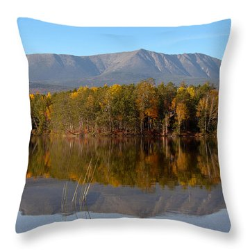 Mt Katahdin Baxter State Park Fall 1 Throw Pillow