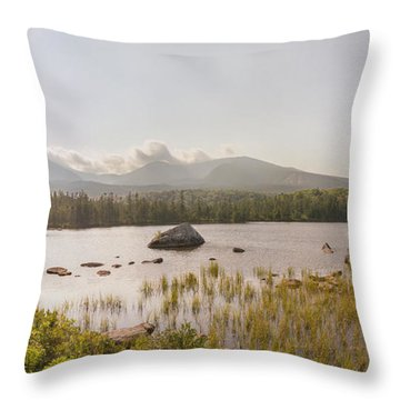 Mt Katahdin Pano Throw Pillow