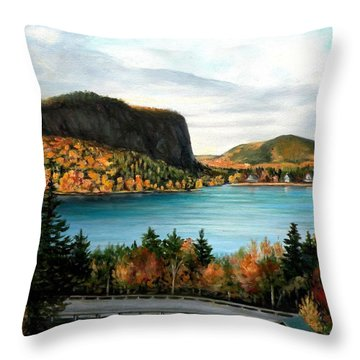 Mt. Kineo, Rockwood, Maine Throw Pillow