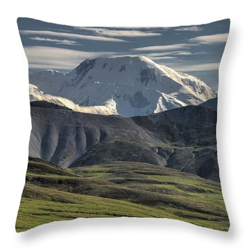 Throw Pillow featuring the photograph Mt. Mather by Gary Lengyel