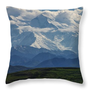 Denali Throw Pillow by Gary Lengyel