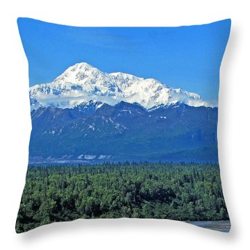 Denali, Aka Mt. Mckinley  Throw Pillow