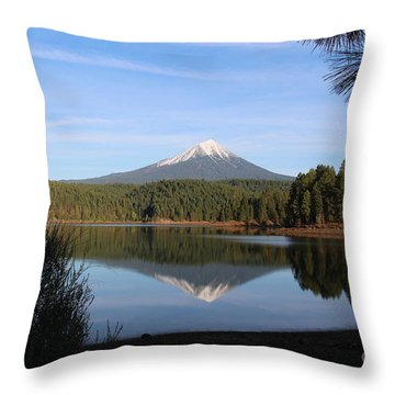 Mt Mclaughlin Or Pitt Throw Pillow