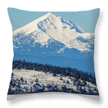 Throw Pillow featuring the photograph Mt. Mcloughlin by Marc Crumpler