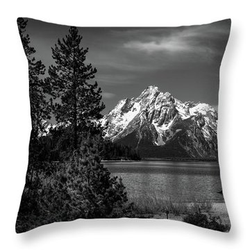 Mt. Moran And Trees Throw Pillow