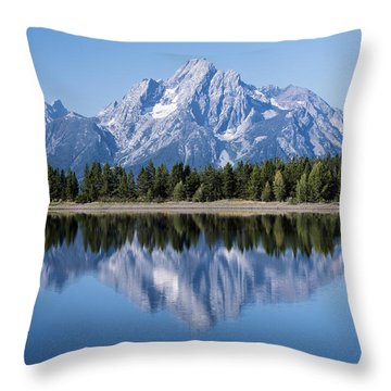 Mt. Moran Grand Tetons Throw Pillow