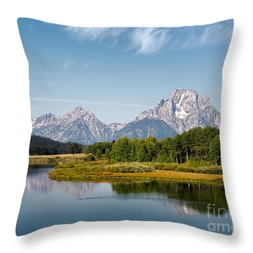 Mt Moran Throw Pillow