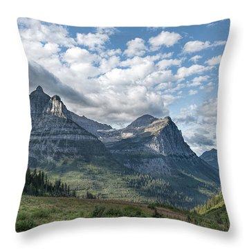 Mt. Oberlin From Logan Pass Throw Pillow