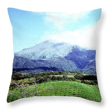 Throw Pillow featuring the photograph Mt. Pele, Martinique by Merton Allen
