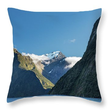 Throw Pillow featuring the photograph Mt Pembroke Glacier by Gary Eason