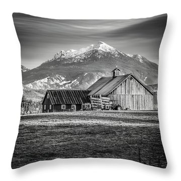 Mt Pilchuck Throw Pillow