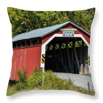 Mt. Pleasant Covered Bridge Throw Pillow