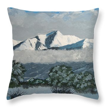 Throw Pillow featuring the painting Mt Princeton Co by Norm Starks