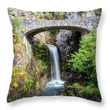Mt Rainier National Park, Christine Falls Throw Pillow