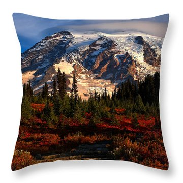 Mt. Rainier Paradise Morning Throw Pillow