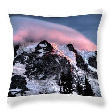 Mt Rainier Sunrise Fine Art Photograph Throw Pillow