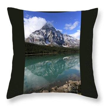 Mt Refection Throw Pillow