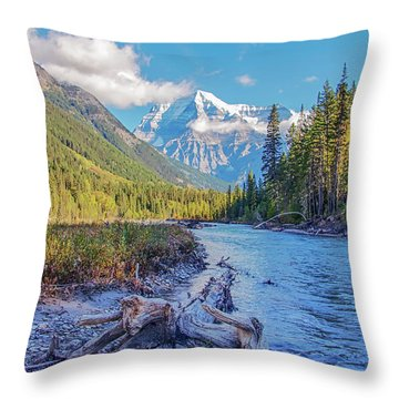 Throw Pillow featuring the photograph Mt. Robson 2009 02 by Jim Dollar