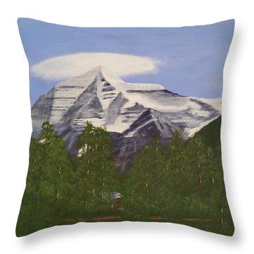 Mt. Robson, Bc Throw Pillow