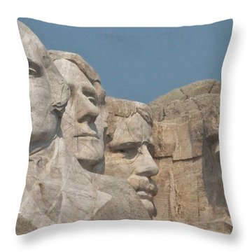 Mt. Rushmore Throw Pillow