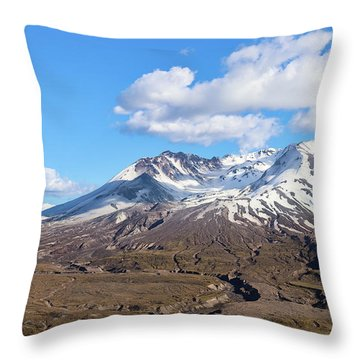 Mt Saint Helens Throw Pillow
