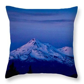 Mt Shasta At Sunrise Throw Pillow