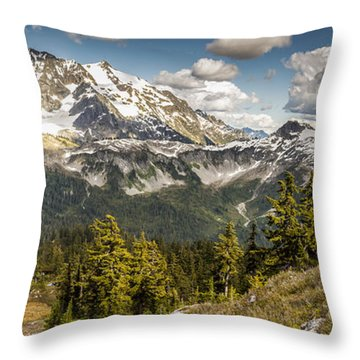 Mt Shuksan Panoramic Throw Pillow