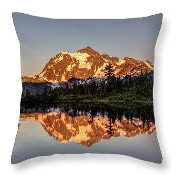 Mt Shuksan Reflection Throw Pillow