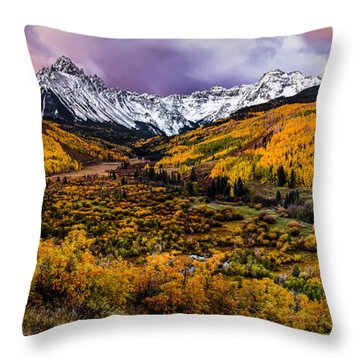 Mt. Sneffels Fall Colors Throw Pillow